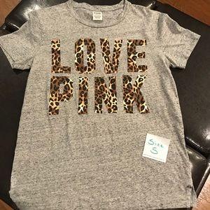 Victoria's Secret Pink Leopard Print T-shirt